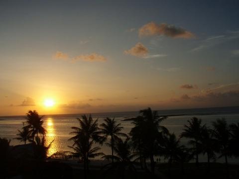 海南島のビーチ夕景